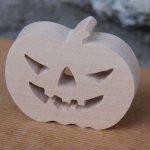 Figurine citrouille d' halloween en bois a peindre