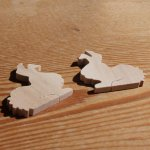 figurine lapin a decorer, coller miniature loisirs creatifs