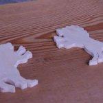 figurine lion épaisseur 3mm a décorer et a coller miniatures loisirs créatifs embellissement scrap fait main bois massif