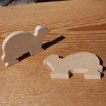 figurine miniature tortue 3mm a peindre et a coller bois d'erable massif fait main embellissement scrapbooking