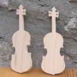 Figurine violon lg 9cm ep  3mm marque place musique