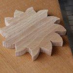 Forme soleil a decorer bois de hetre