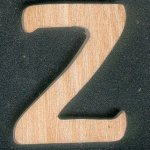 Lettre Z en bois de frene hauteur 5 cm