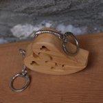 porte clef coeur puzzle bois pour amoureux, saint valentin