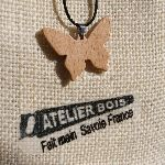 pendentif papillon bois de hetre bijoux bois et nature