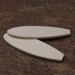 Figurine planche de surf longueur 8.5 cm ep 3mm a decorer