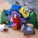 Creche de noel puzzle peinte 10 pieces en bois massif