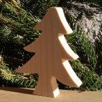 Sapin de Noel 10 cm en bois a peindre a poser