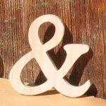 signe and, esperluette en bois massif a coller, fait main, embellissement scrap, deco