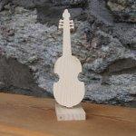 viole de Gambe en bois montée sur socle, centre de table mariage anniversaire theme musique