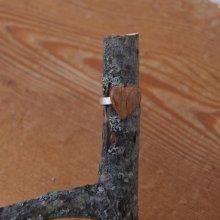 Bague cabochon en bois forme coeur Chêne foncé largeur 14mm