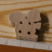 Bouton ecureuil 25mm bois massif fait main embellissement scrap foret nature animaux