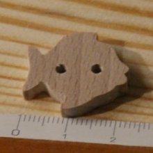 Bouton poisson 22mm a decorer et a coudre