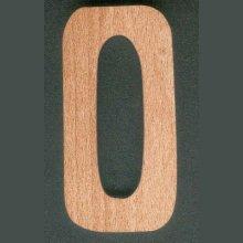 Chiffre 0 en bois  ht 10cm