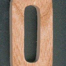 Chiffre 0 en bois 5 cm decoupé manuellement