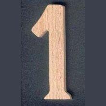 Chiffre 1 en bois ht 10cm
