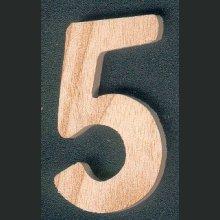 Chiffre 5 en bois 5 cm a coller