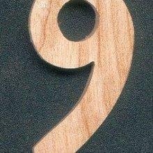 Chiffre 9 en bois 5 cm