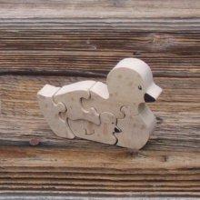 Puzzles animaux en bois canard et son caneton 5 pièces en Hêtre, animaux de la ferme