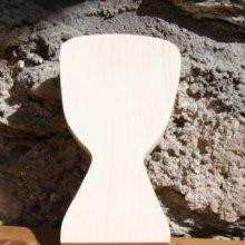 Djembé en bois 15cm, décoration musique