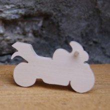 Figurine Moto de route en bois a peindre