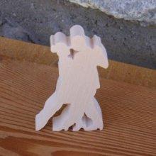 Figurine danseurs bolero lg 7cm ep 7mm bois d'erable massif fait main