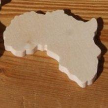 Figurine carte d'afrique ht6cm ep 3mm a decorer