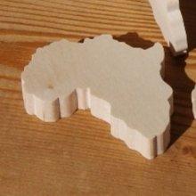 Figurine carte d'afrique ht6cm ep 7mm