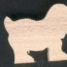 Figurine chien en bois theme ferme