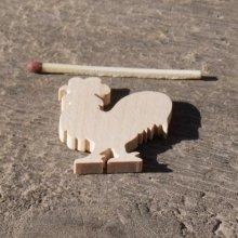 figurine coq 3mm a peindre et a coller, basse cour, bois massif  fait main embellissement scrap