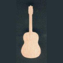Figurine guitare en bois