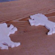 figurine lion épaisseur 3mm a décorer et a coller miniatures loisirs créatifs
