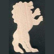 Figurine lion en bois