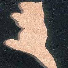 Figurine miniature marmotte 2 x 2.3 cm en bois d'erable massif fait main loisirs créatifs