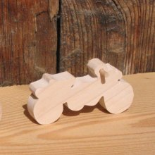 Figurine Moto  cross en bois