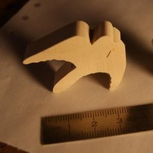 Figurine oiseau, colombe, tourterelle miniature en bois