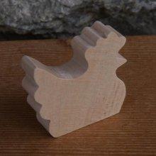Figurine miniature poule, poulette en bois a décorer bois d'erable massif