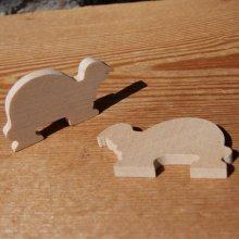 figurine  miniature tortue 3mm a peindre et a coller bois d'erable massif fait main