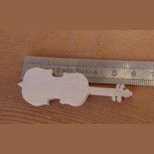 Figurine violoncelle ht 6cm bois massif fait main embellissement scrapbooking musique
