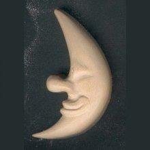 Lune découpée  sculptée cirée nature