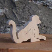 marque place singe, figurine bois a decorer