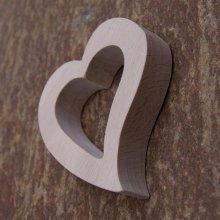 Rond de serviette coeur pour amoureux, noce de bois