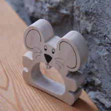 Rond de serviette souris, fabrication artisanale
