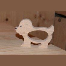 Rond de serviette chien fabrication artisanale bois massif