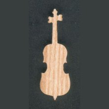 Figurine Violoncelle monté en broche en bois de frene, fabrication artisanale découpé à la main