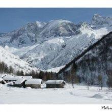 Carte postale Le Laisonnay d'en Haut, Champagny en vanoise en hiver
