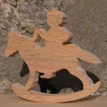 cheval à bascule avec cavalier