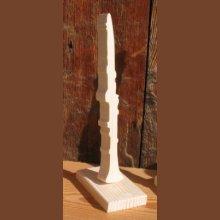 clarinette montée sur socle en bois, décoration intérieure, décoration mariage, fait main