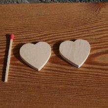 Figurine coeur 3x3 en bois brut a peindre, décoration maraige, saint valentin, noces de bois