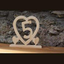 Coeur noce de bois, 5 ans de mariage